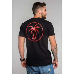 T-shirt męski GF Big Palm Tree - czarny