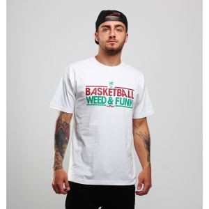 T-Shirt Basketball Weed & Funk White